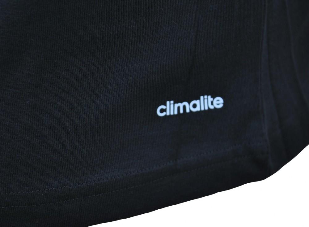 Adidas Tentro Graphic Tee 2 Mens Herren ClimaLite Shirt T-Shirt Schwarz – Bild 5