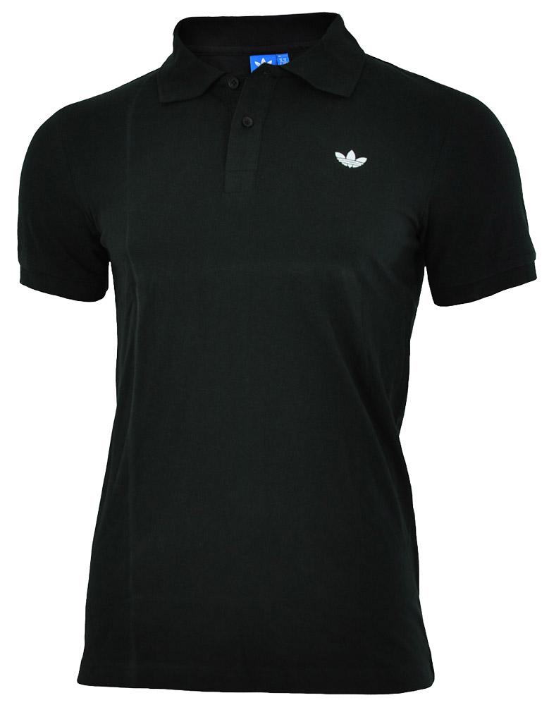 Adidas Adi Polo Pique Mens Herren Originals Trefoil Poloshirt Shirt Schwarz 001