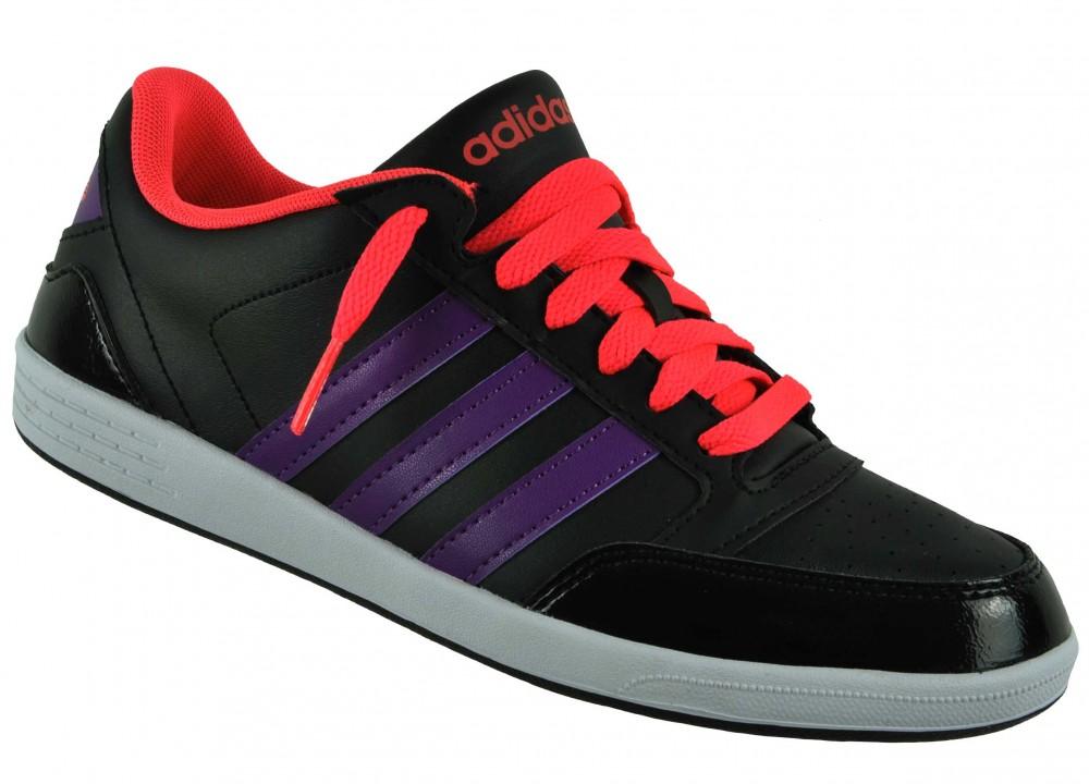 Adidas VL Neo Hoops Lo Womens Sneaker Damen Freizeitschuhe Schuhe Schwarz