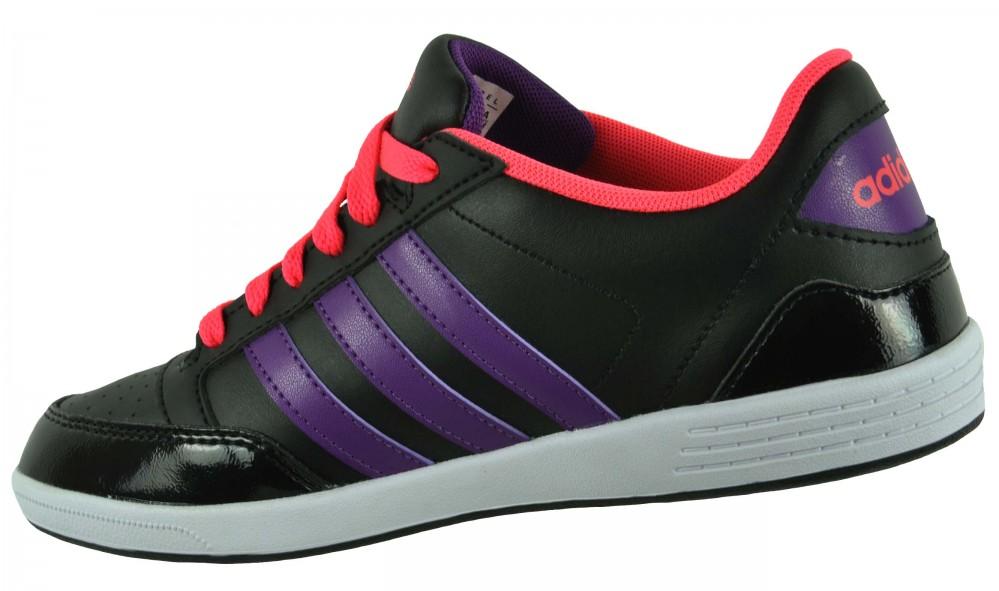 Adidas VL Neo Hoops Lo Womens Sneaker Damen Freizeitschuhe Schuhe Schwarz – Bild 3