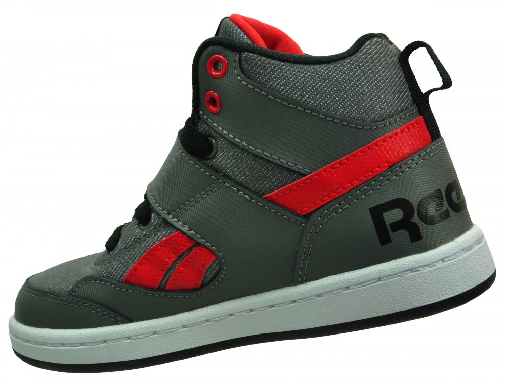 Reebok Mission Classic Kids Junior Sneaker Kinder Leder Schuhe Grau – Bild 2