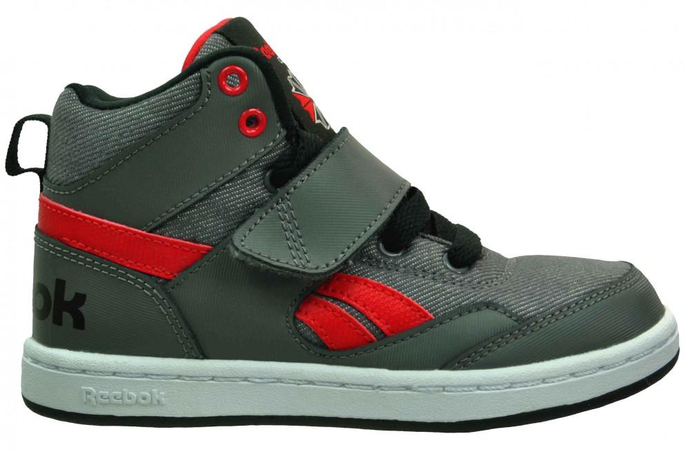 Reebok Mission Classic Kids Junior Sneaker Kinder Leder Schuhe Grau – Bild 5