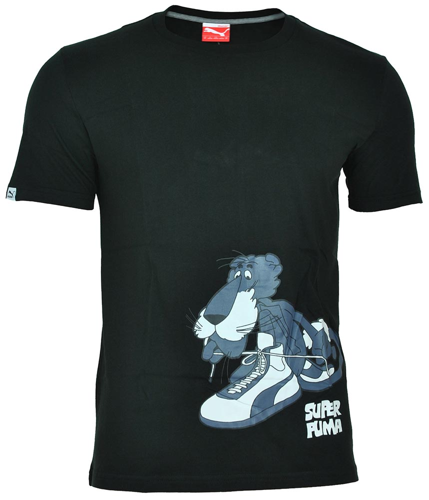 Puma Super Tee mens Herren Sport Freizeit Training T-Shirt Schwarz – Bild 1