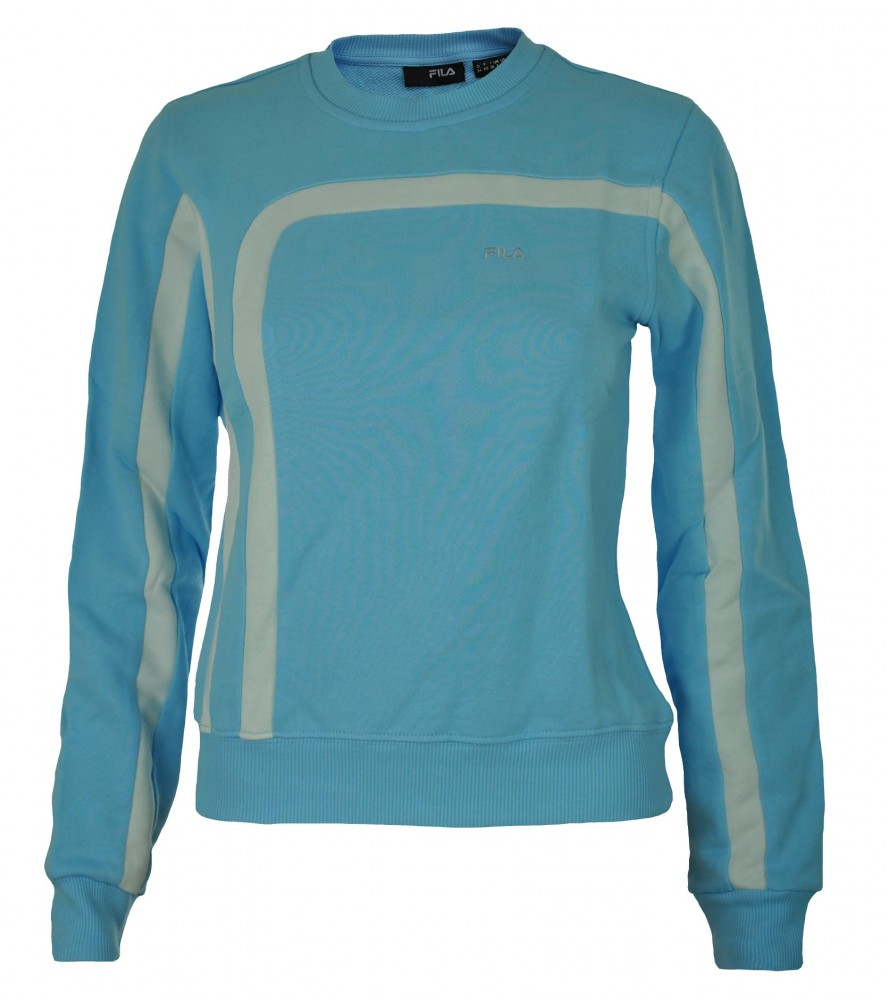 Fila Crew Neck Sweat Womens Damen Sport Fitness Sweatshirt Hellblau