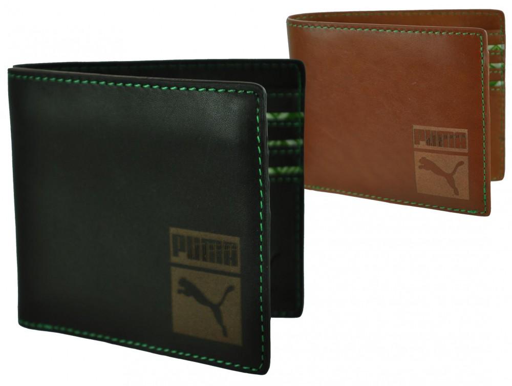 Puma Cash Card Wallet Leder Kreditkarten Geldbörse Brieftasche