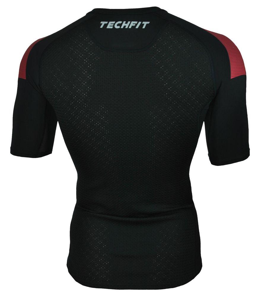 Adidas Techfit ClimaCool ACM Mailand Tee Herren Sport Fitness Stretch T-Shirt Schwarz – Bild 4