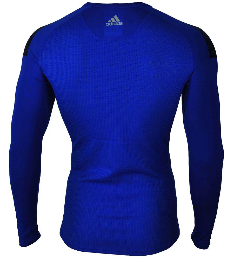 Adidas Cool LS P Techfit ClimaCool Longshirt Herren Compression Stretch Shirt Blau – Bild 4