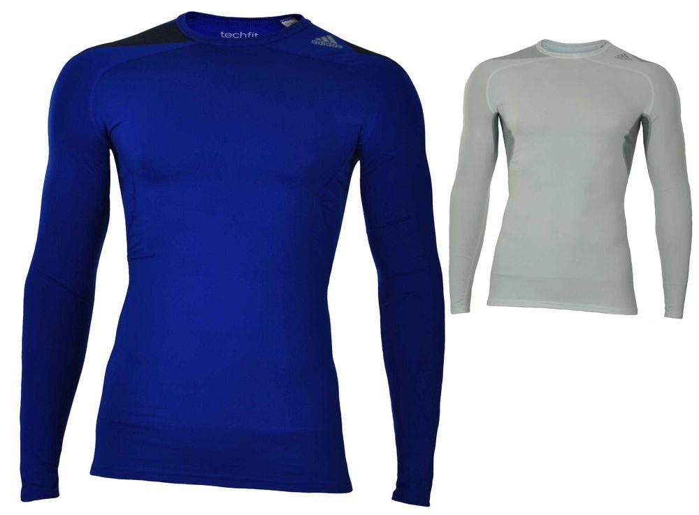 Adidas Cool LS P Techfit ClimaCool Longshirt Herren Compression Stretch Shirt – Bild 1