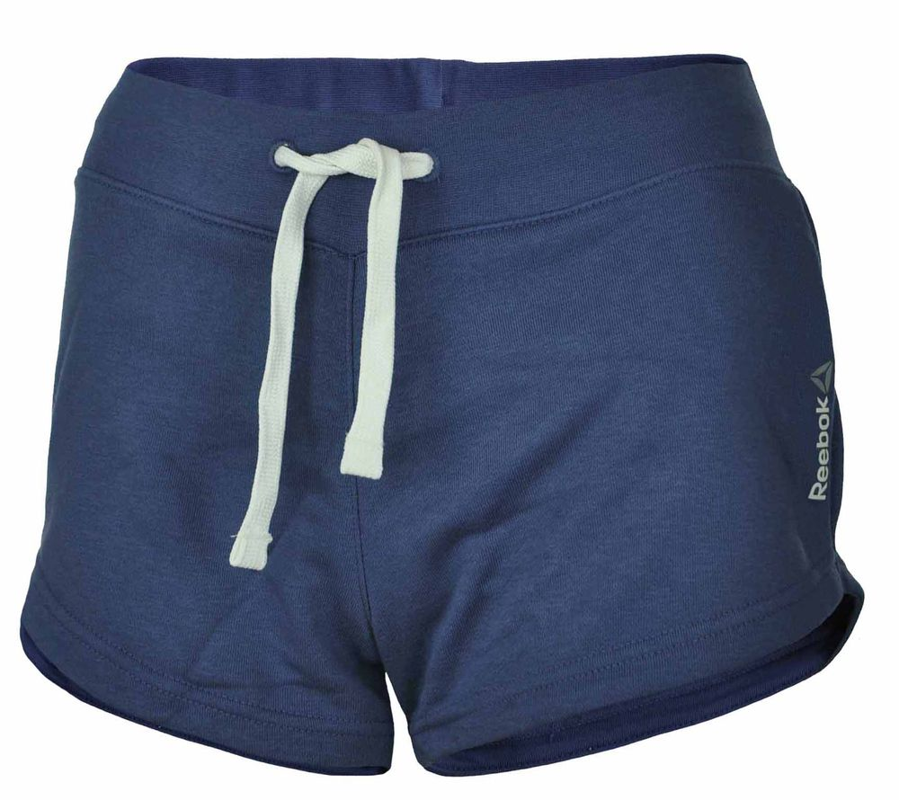 Reebok Elements Simple Short Womens Damen Slim Shorts Sportshorts Blau
