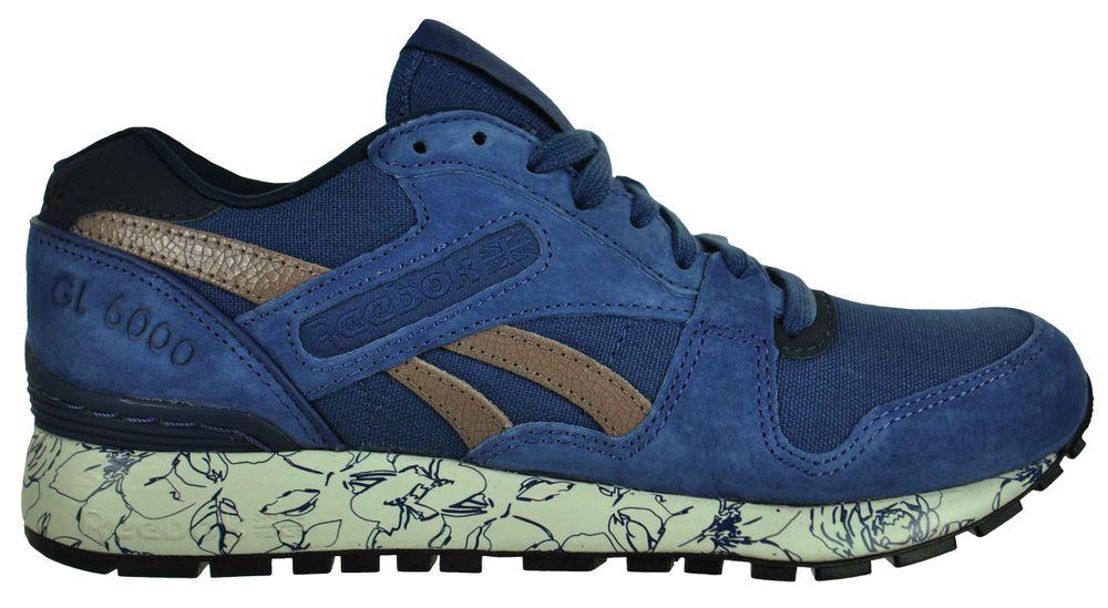 Reebok GL 6000 WRAP Sneaker Womens Damen Classic Leder Schuhe Blau – Bild 4