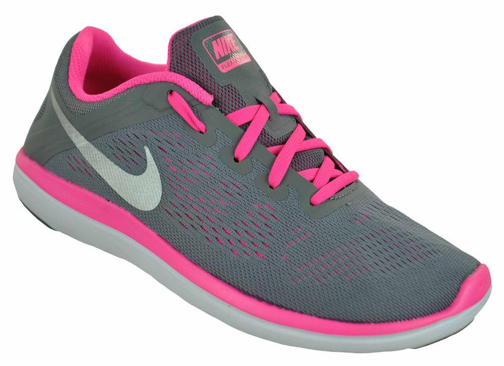 Nike Flex 2016 RN (GS) Girls Sneaker Mädchen Schuhe Trainer Grau