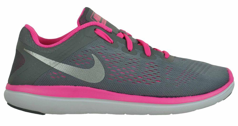 Nike Flex 2016 RN (GS) Girls Sneaker Mädchen Schuhe Trainer Grau – Bild 4