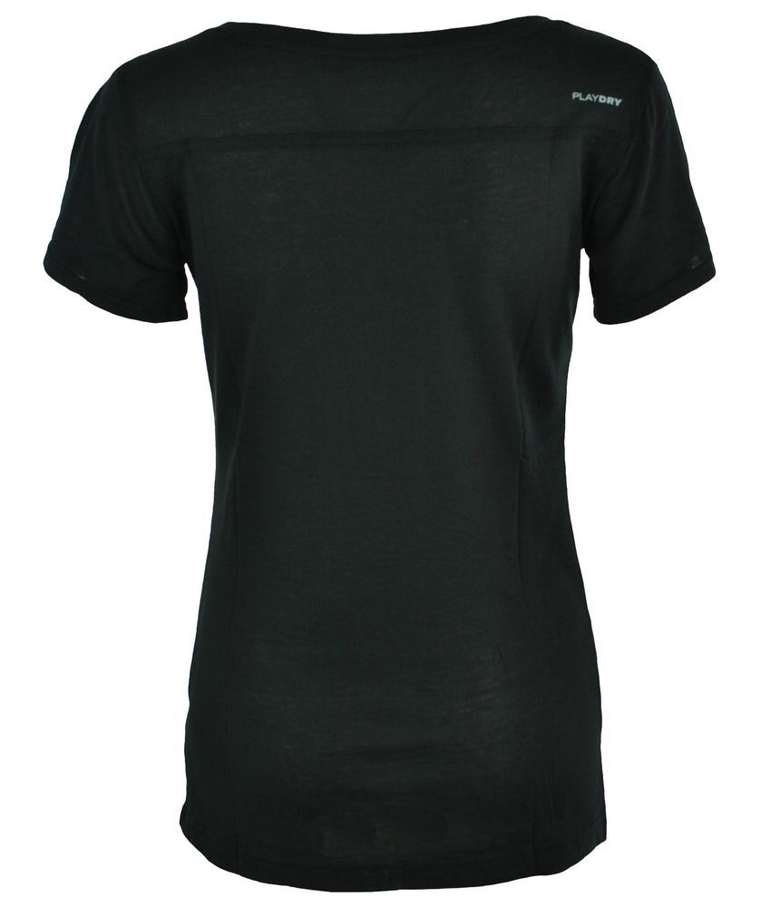 Reebok DF Q4 Tee Womens Damen Fitness Joga PlayDry Shirt T-Shirt Schwarz – Bild 3