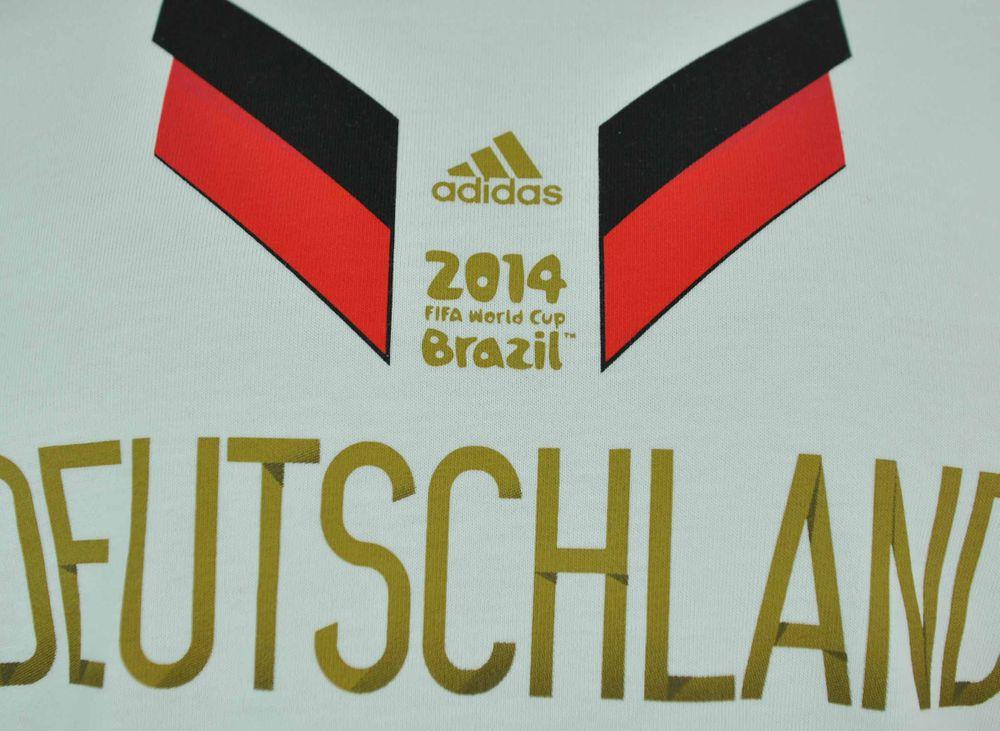 Adidas Germany Tee Mens Herren Fifa World Cup Brasil 2014 Sport Shirt T-Shirt Weiß – Bild 2