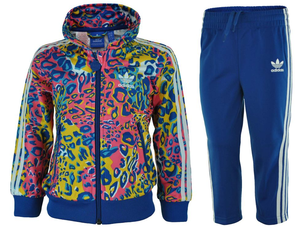 Adidas I Soccer FB Kids Infants Originals Firebird Tracksuit Baby Jogginganzug Trainingsanzug Blau