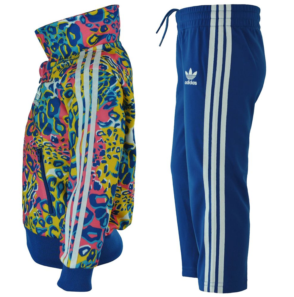 Adidas I Soccer FB Kids Infants Originals Firebird Tracksuit Baby Jogginganzug Trainingsanzug Blau – Bild 3