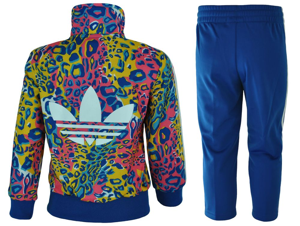 Adidas I Soccer FB Kids Infants Originals Firebird Tracksuit Baby Jogginganzug Trainingsanzug Blau – Bild 4