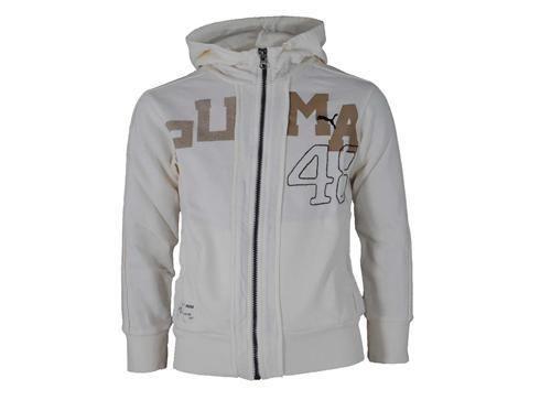 Puma Since 48 Hooded Junior Kinder Freizeit Kapuzen Jacke Weiß
