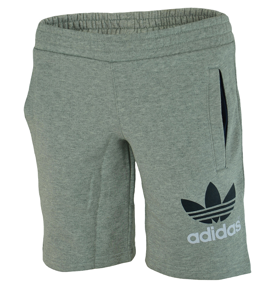 Adidas YB Fleece Short Junior Jungen Kinder Shorts Kurze Hose Grau – Bild 1