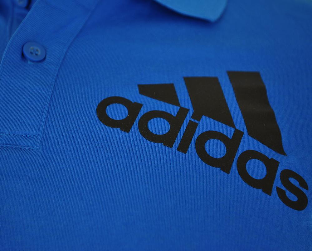 Adidas Spelto Polo Mens Herren Regular Poloshirt Shirt Blau – Bild 2