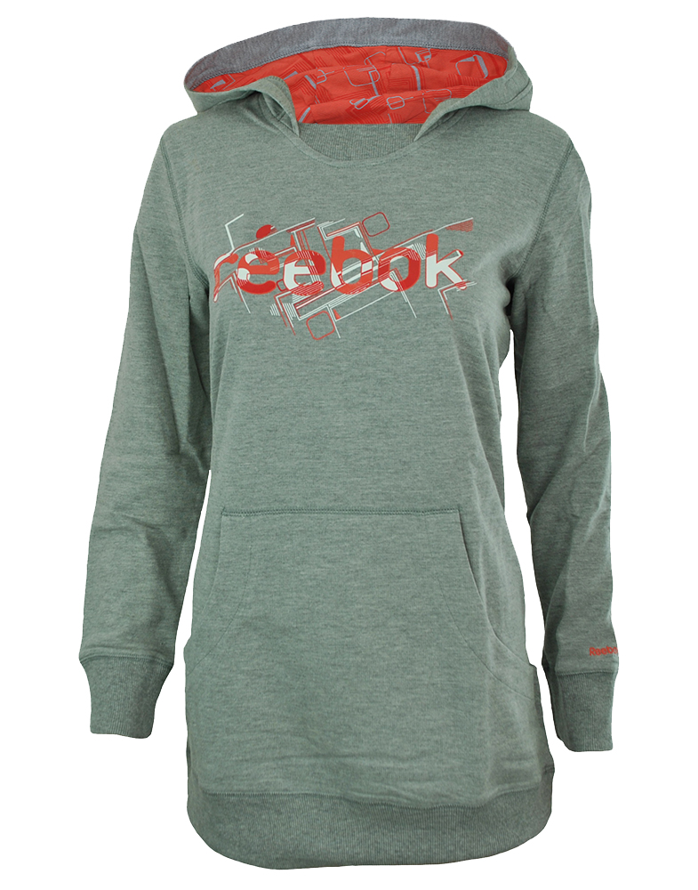 Reebok SG Hoody Dress Womens Damen Kapuzenpullover Hooded Sweatshirt Grau