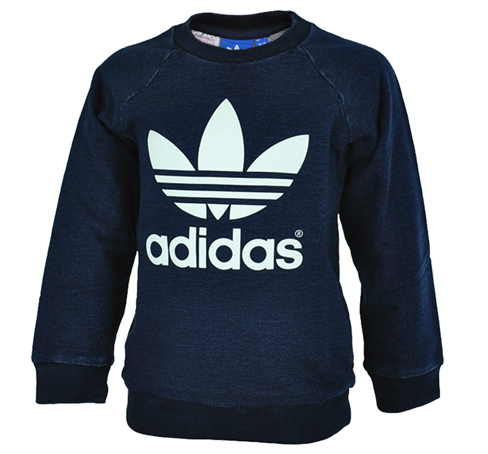 Adidas I Crew set Denim Baby Infants Originals Firebird Sweatshirt Navy Gr. 74