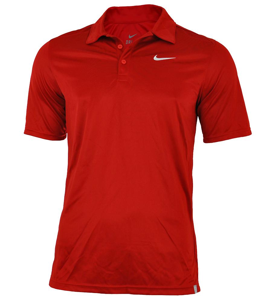 Nike Tennis Polo Shirt DRI FIT Mens Herren Poloshirt Rot – Bild 1