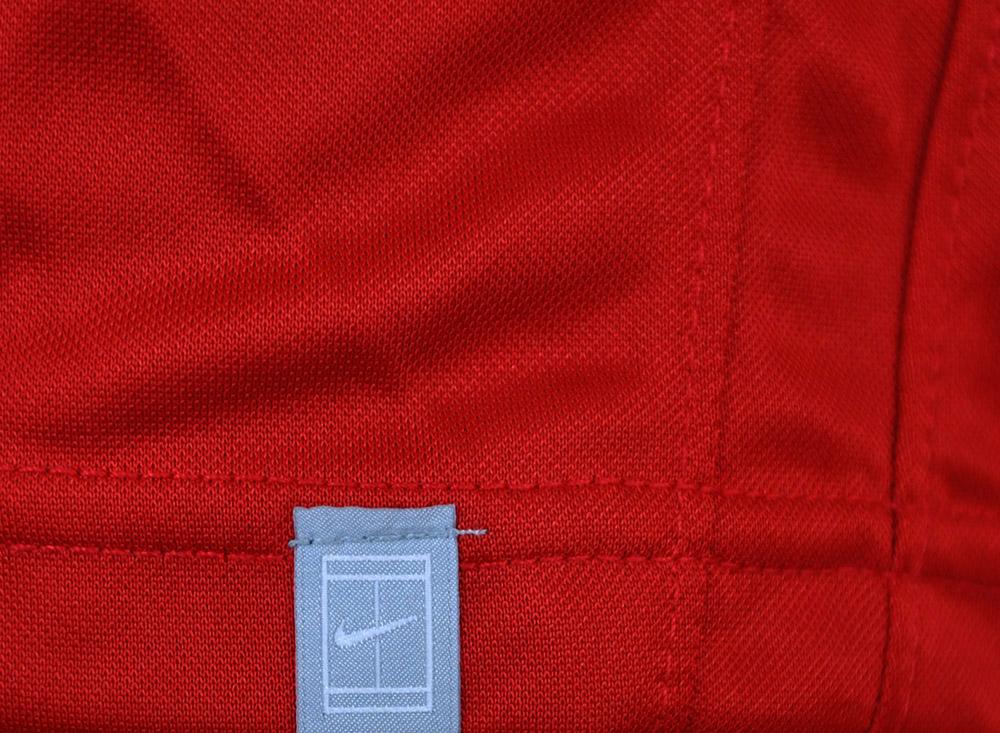 Nike Tennis Polo Shirt DRI FIT Mens Herren Poloshirt Rot – Bild 3