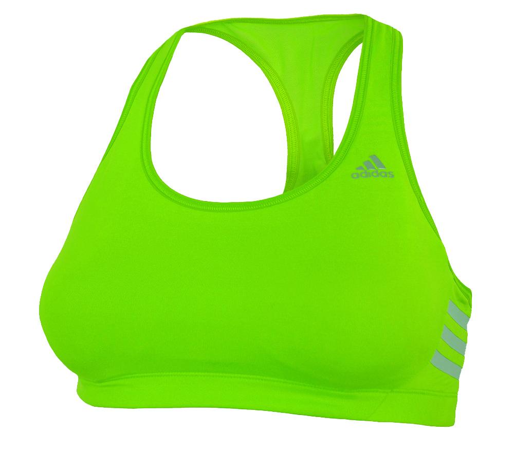 Adidas CT Bra Womens Damen Training Sport Fitness bh ClimaCool Solar Grün