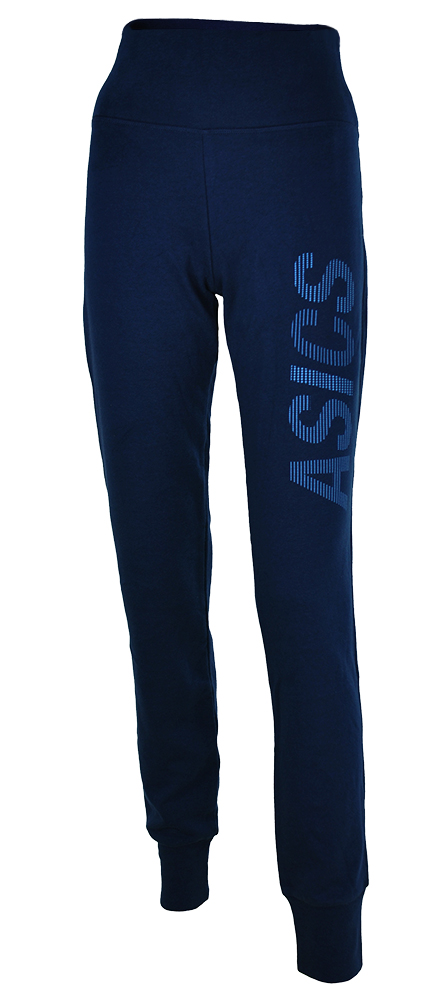 Asics Graphic Cuffed Pant Womens Damen Hose Sporthose Sweathose Blau – Bild 1