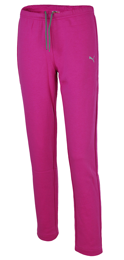 Puma Sweat Pants Kurzgröße Damen Slim Fit Hose Sporthose Sweathose Pink
