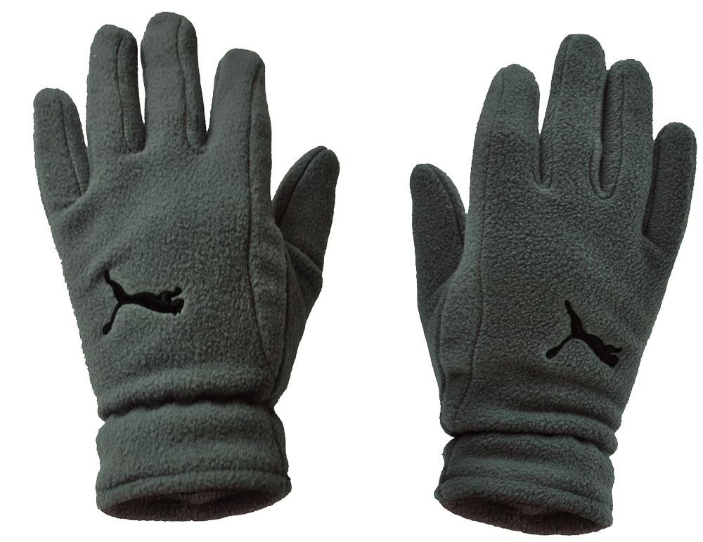 Puma Fundamentals Fleece Gloves Unisex Winter Handschuhe Grau Größe M/L