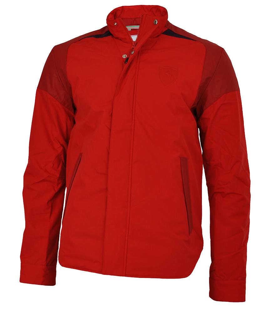 Puma Scuderia Ferrari Padded Jacket Mens Herren Winterjacke Jacke Rot