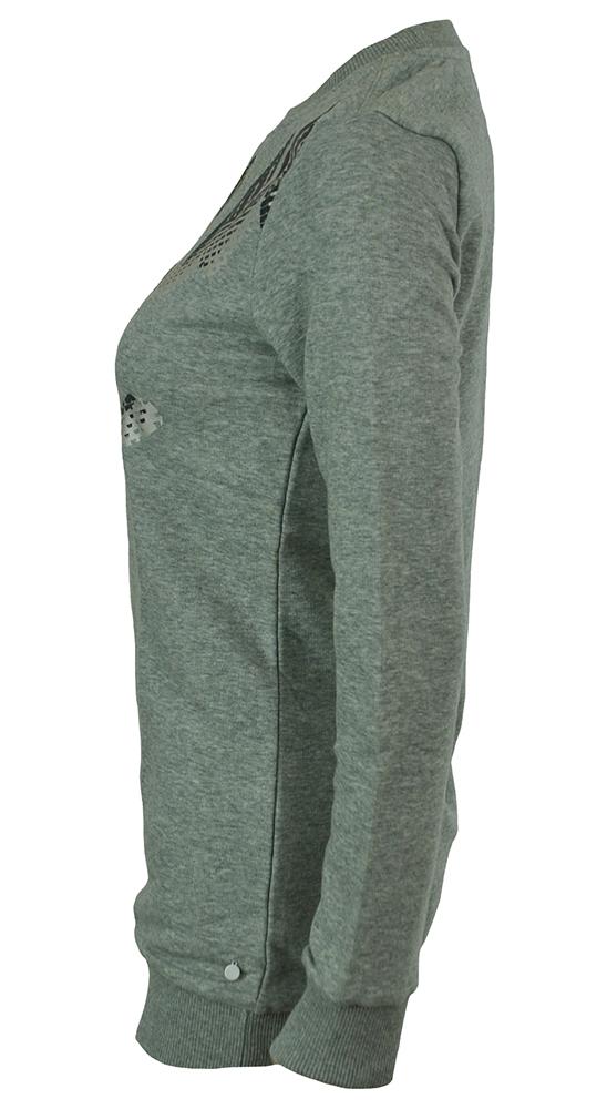 Puma Script Sweatshirt Tunic Damen Sweatshirt Grau – Bild 3
