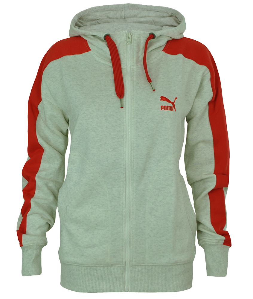 Puma athletic Hooded Sweat Jacket Damen Kapuzenpullover Hoody Sweatjacke Weiß
