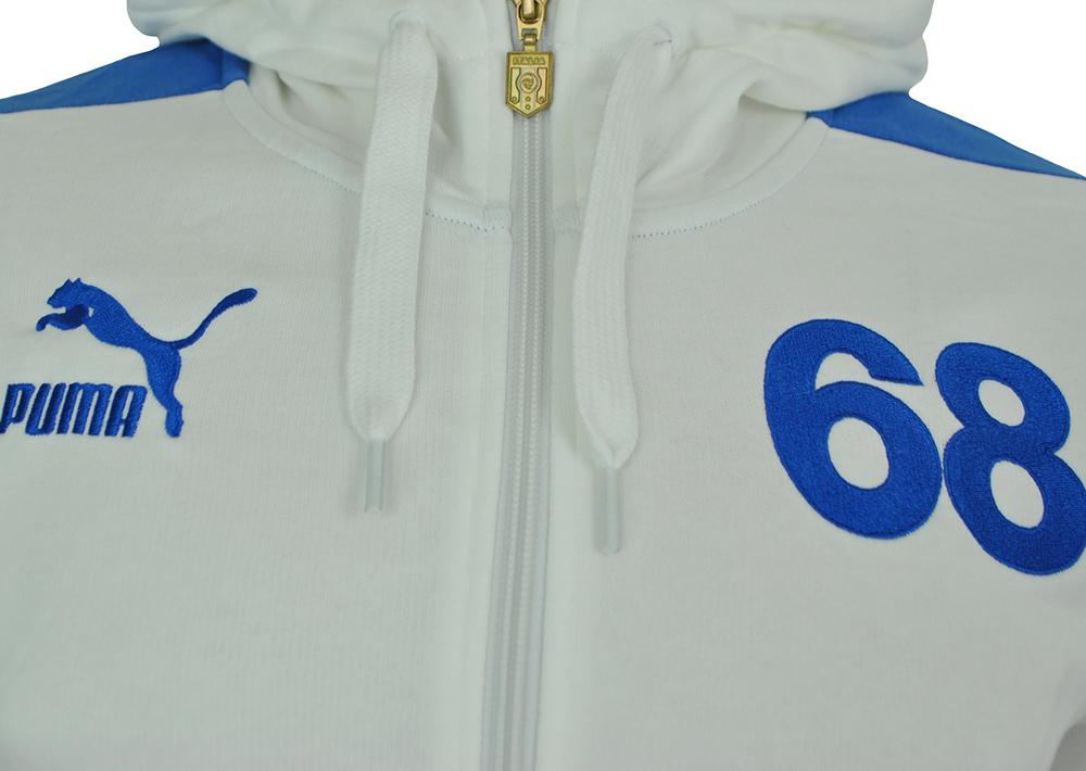 Puma Football Arch. T7 Zip Hooded Sweat Jacket Italia Mens Herren Sweatjacke Weiß – Bild 2
