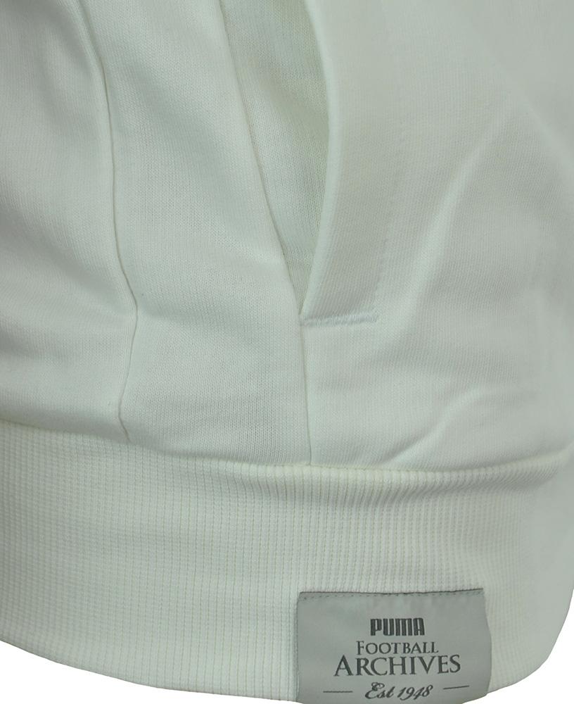 Puma Football Arch. T7 Zip Hooded Sweat Jacket Italia Mens Herren Sweatjacke Weiß – Bild 3