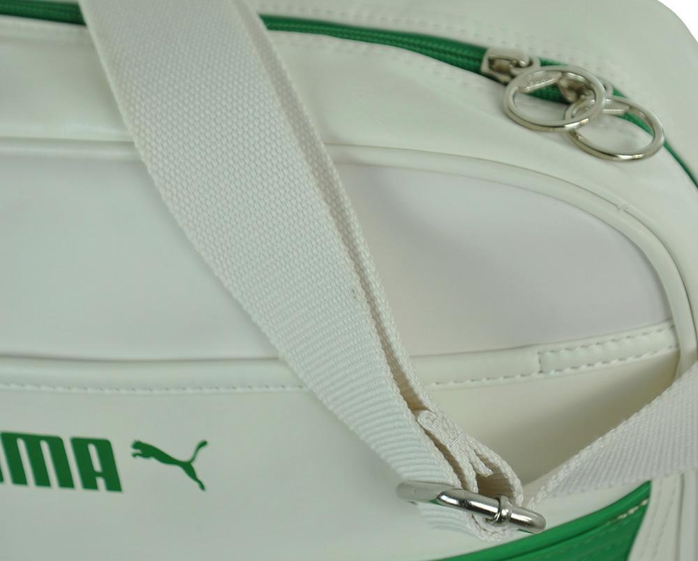 Puma Volcano Reporter Originals Messenger Bag Schultertasche Weiß/Grün – Bild 2