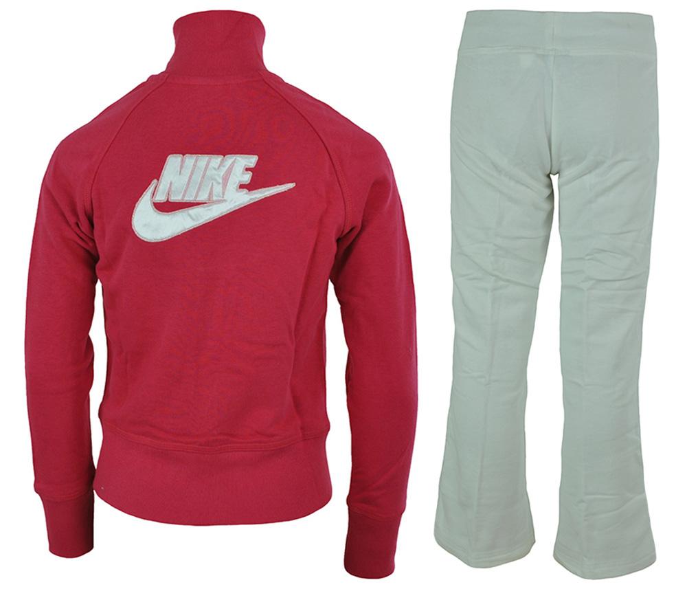 Nike Girls Sweat Suit Tracksuit Mädchen Trainingsanzug Pink / Weiß – Bild 5