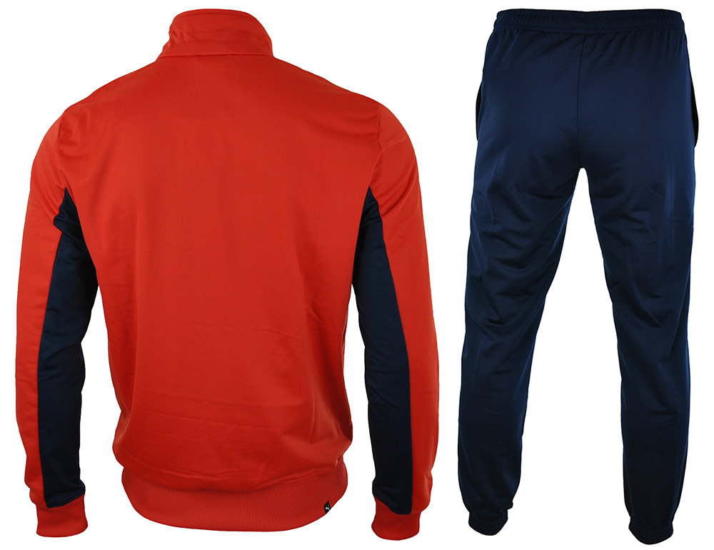 Puma Fun CB Tricot Suit Closed Mens Herren Sportanzug Trainingsanzug Rot/Peacoat – Bild 5
