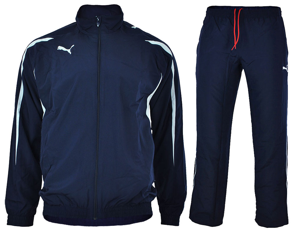 Puma Powercat 5.10 Woven Suit Herren Sportanzug Trainingsanzug Navy – Bild 1