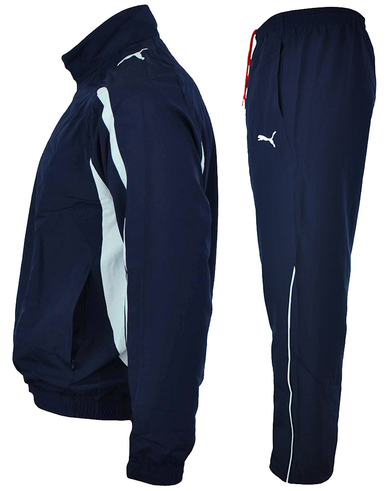 Puma Powercat 5.10 Woven Suit Herren Sportanzug Trainingsanzug Navy – Bild 6