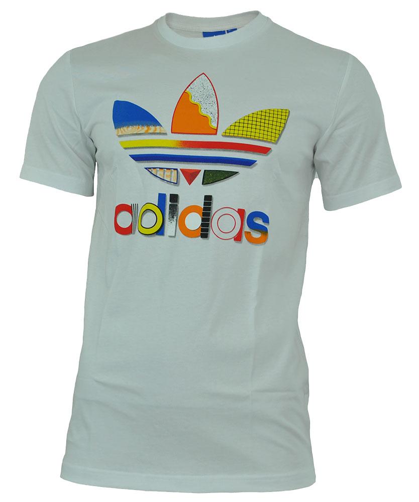 Adidas Fresh Trefoil Mens Tee Originals Herren T-Shirt Weiß – Bild 1
