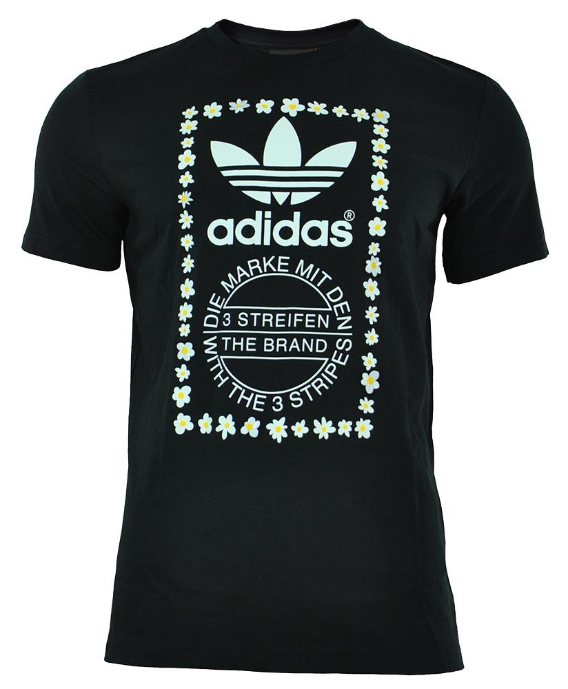 Adidas Pharrell Williams Graphic Tee 1 Originals Herren Trefoil T Shirt Schwarz