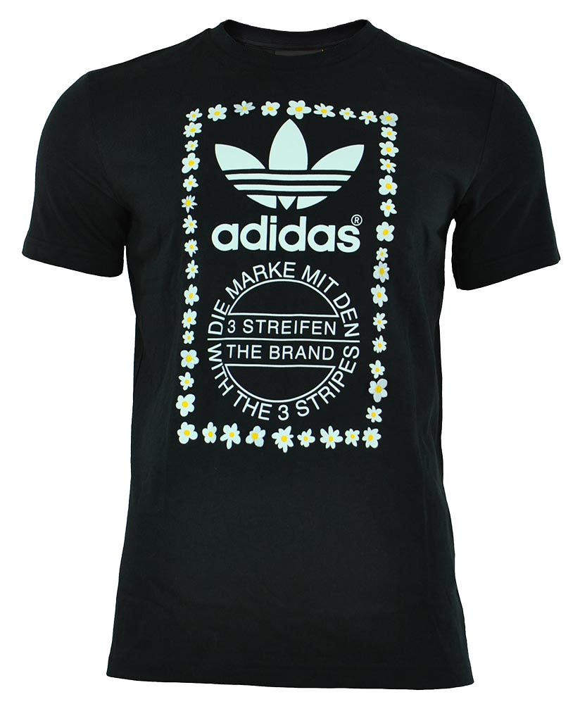 Adidas Pharrell Williams Graphic Tee 1 Originals Herren Trefoil T-Shirt Schwarz