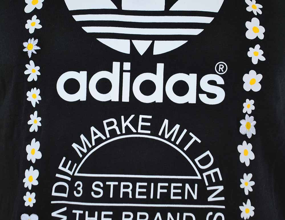 Adidas Pharrell Williams Graphic Tee 1 Originals Herren Trefoil T-Shirt Schwarz – Bild 2