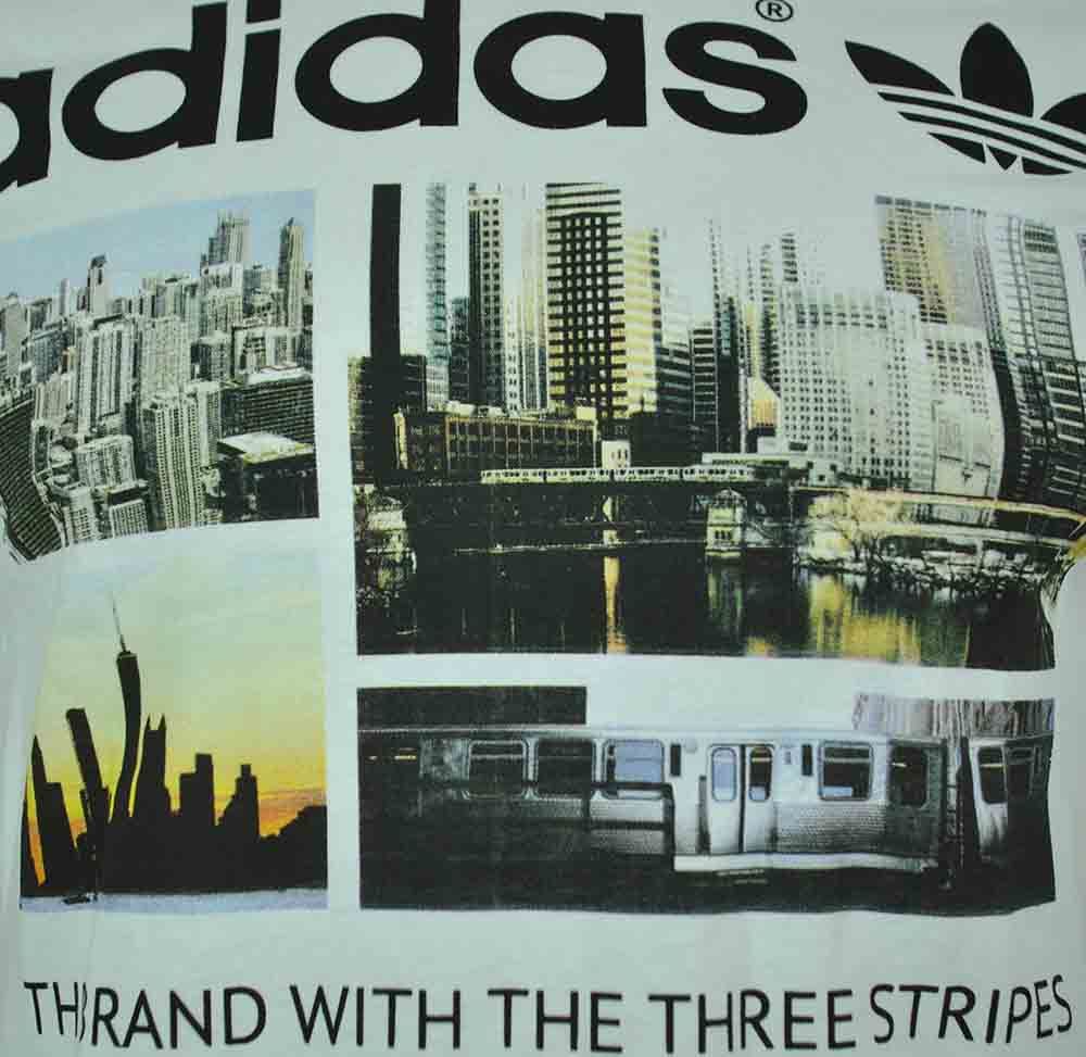 Adidas Adidas Photo 1 Trefoil Skyline Tee Originals Herren T-Shirt Weiß – Bild 2
