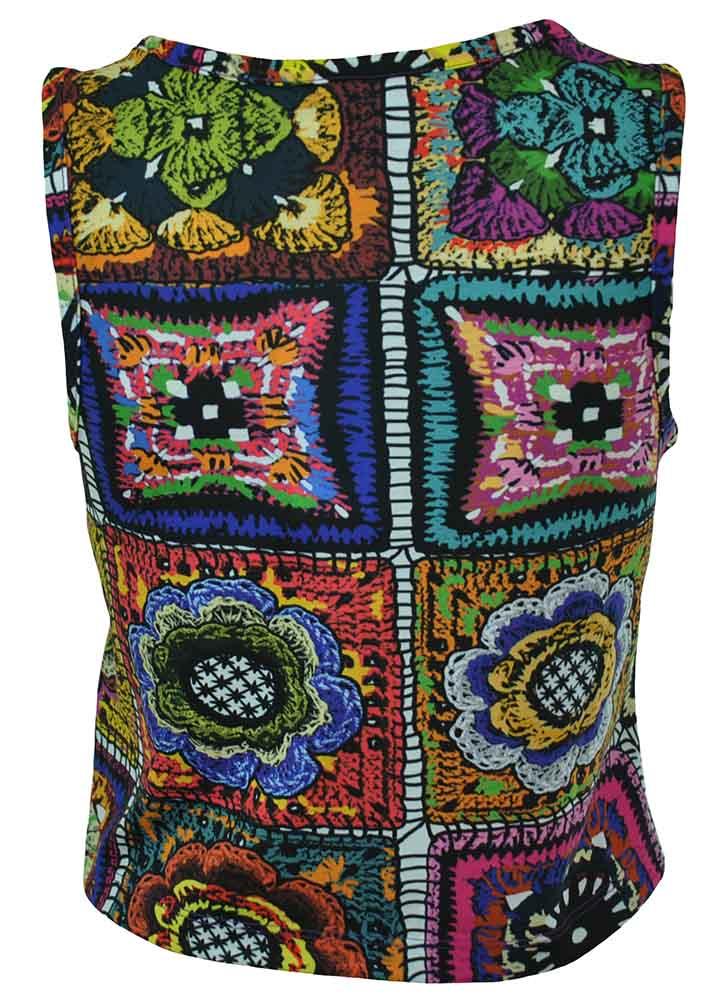 Adidas Crochita C Tank Originals Damen Trefoil Top Shirt Mehrfarbig – Bild 3