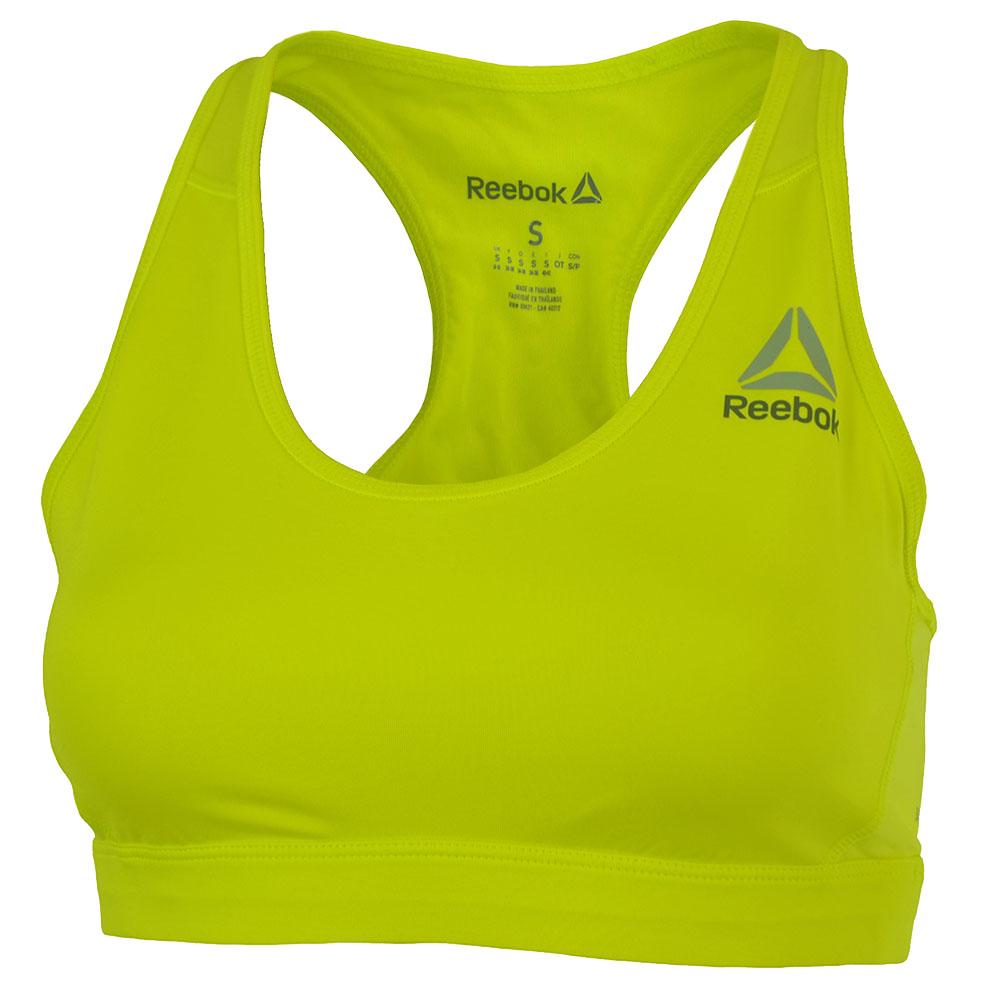 Reebok WOR SL MS BRA CrossFit Damen Training Sport Fitness bh SpeedWick Gelb – Bild 1