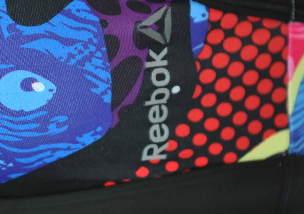 Reebok Y Graffiti BRA CrossFit Sport Yoga Fitness bh SpeedWick Mehrfarbig – Bild 2